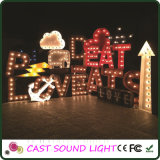 Mode LED Marquee Lettre Sign Christmas Lighting