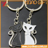 Regalo dei monili di marchio di Keychain Customed del gatto del metallo (YB-HD-187)