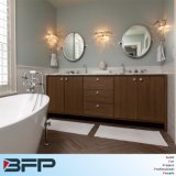 Vanità della stanza da bagno del doppio dispersore della venatura del legno del PVC di stile della corte