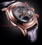 Special que projeta o relógio mecânico para homens com a faixa de couro Fs447 de Gunine