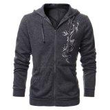 Il pullover su ordinazione di sport di Hoodies di modo del panno morbido del cotone degli uomini chiude con chiusura a lampo in su i vestiti superiori (AL013)