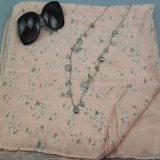 Rosafarbener Gras-Druck-Voile-Schal für Frauen-Form-Zusatzgeräten-Form-Schale