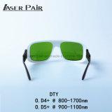 Lasersicherheits-Gläser DTY O.D4+@800-1700nm, O.D5+@900-1100nm typisch für 808nm, 980nm, 1064nm, 1320nm, 1470nm für Dioden, Nd: YAG