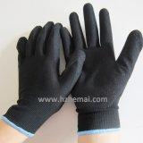 13 Handschoen van het Werk van de Veiligheid van de Handschoenen van de maat de Nylon Zandige Nitril Met een laag bedekte