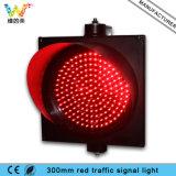 Luz barata de la señal de tráfico del rojo del aspecto 300m m del precio uno