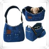 2017 Dog Bags Bolsas de mão portáteis da viagem do portador do cão do denim