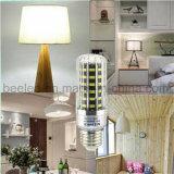 LEDのトウモロコシライトE27 10Wは白い銀製カラーボディLED球根ランプを冷却する