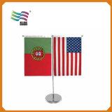 Drapeaux de table nationaux décoratifs, deux ou trois branches (HYTF-AF007)