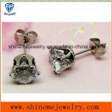 Shineme Bijoux Fashion Single Clear Stone Earring Ear Stud (ER2913)