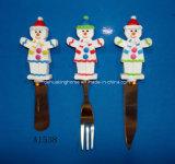 Verspreider met het Handvat van de Sneeuwmannen van de Hars voor de Decoratie van Kerstmis