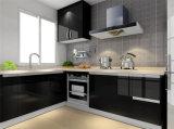 中国の工場卸売の台所家具の光沢度の高い食器棚