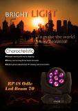 Iluminación principal móvil de la etapa del acontecimiento del disco de la etapa de la luz DMX de la viga del CREE LED de RoHS Certifiicate 7LEDs*10W 4in1 RGBW