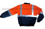 Inverno impermeável Vestuário de proteção Hi-Viz Reflexivo Segurança Rain Jacket Padded Pilot Garment