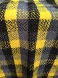 Stock ткань шерстей проверки, шерстяная ткань (желтая & черная шерстяная ткань)