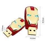 Kundenspezifischer Eisen-Mann USB-Blitz-Laufwerk-Förderung-Geschenk USB-Stock