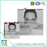 Bolsa de regalo impreso de lujo con mango de seda