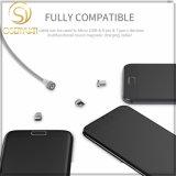 Кабель USB металла заряжателя Wsken круглый магнитный для Samsung Apple Huawei