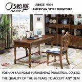 Mesa de escritório de madeira de estilo americano para móveis de escritório doméstico (AS809)