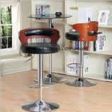 Cadeira comercial da barra do tamborete de barra com frame da madeira contínua (LL-BC057)