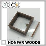 Frame de retrato profundo de madeira do espécime do frame de caixa com 2 vidros