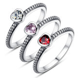 Fashion Cubic Zircon Ring 925 Sterling Silver Jewelry