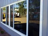 Rupture thermique en aluminium avec un seul de portes coulissantes en verre trempé Pnoc006