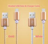 заряжатель провода Sync данным по шнура кабеля 2A USB 4FT Braided для галактики Samsung