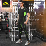 メンズ方法スポーツのLeggingのスポーツシャツの圧縮の摩耗