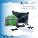10W off-grid pequeño sistema de casa por casa el kit de la energía solar
