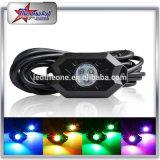 RGB 지프 Offroad 트럭 기관자전차 배를 위한 Bluetooth 관제사를 가진 소형 LED 바위 빛 장비