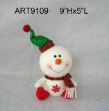 """14"""" H pie de disquete de Santa muñeco de nieve-Navidad Decoración Juguetes"""