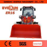 빠른 연결기를 가진 작은 로더가 Everun에 의하여 Zl16 중국 프런트 엔드 로더 도매에게 했다