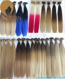 ケラチンのRemyの人間の毛髪前担保付きUの先端の毛の拡張