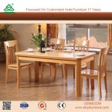 Starker hölzerner Rahmen-hölzerne moderne Speisetisch-Stühle