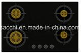 최고 4 고급장교 가열기 가스 호브 (8mm 유리제 새로운)