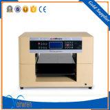 Impresora plana ULTRAVIOLETA de alta velocidad del cuero de la talla de la impresora A3 con la pista Dx5