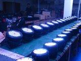 IP 65 de Waterproo da luz da arruela da parede da PARIDADE 64 do diodo emissor de luz de 48*18W Rgbwauv 6in1/diodo emissor de luz