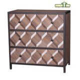 Antiker industrieller Art-festes Holz-Tisch mit Metallrahmen-Ausgangsdekor-Möbeln