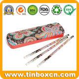 Cassa di matita rettangolare dello stagno per i capretti, contenitore di stagno della matita