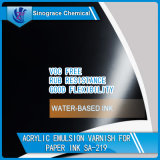 Emulsión de acrílico del estireno resistente de la frotación para los barnices de la impresión sobrepuesta