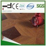 Klassischer HDF Brown lamellierter Bodenbelag der Kreisfaltenbildung-