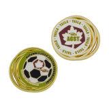 Disque de souvenirs de soccer de sport d'or en émail Coin coin Chariot de blocage