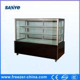 Прямой стеклянный мраморный холодильник витрины хлебопекарни