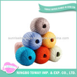 Venda a preço barato lã de fios de algodão de fios de croché para tricotar