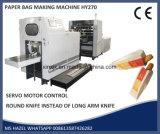 Afilada fondo de la bolsa de papel que hace la máquina V fondo de la bolsa de papel que hace la máquina con la impresión en línea