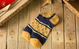 Form-Muster-Mann-Baumwollgroßverkauf-Zoll-Socken