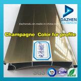 Алюминиевое алюминиевое поверхностное покрытие профиля штрангя-прессовани с анодированным покрытием порошка