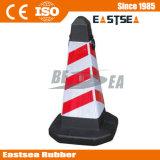 Cono de Seguridad del Tráfico de Color Negro Base de Plástico PE