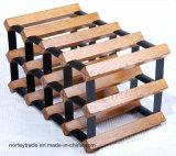 Творческие шкафы вина твердой древесины с соединением утюга
