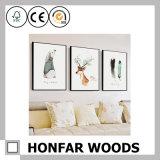 Natürlicher festes Holz-Farbanstrich-Plakat-Rahmen für Hotel-Vorhalle-Dekoration